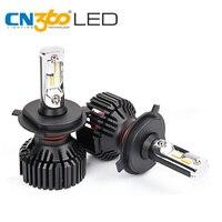 CN360 2PCS Auto Lamp Car Headlight Kit H4 HB2 9003 8000Lumens LED Bulb DRL Fog Lamp