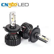 CN360 2 шт. авто лампы фар автомобиля комплект H4 HB2 9003 8000 Люмен светодиодный лампы DRL противотуманных фар автомобиля свет высокий низкий пучок 60 Вт 12 В Водонепроницаемый