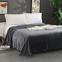 Home Textile Warm Flannel Blanket Plaid Solid Air Sofa Bed Car Throws Plush Blankets Soft Bedsheet