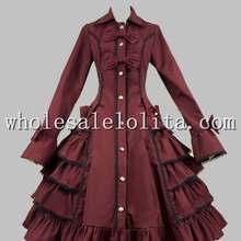 Готическая викторианская Лолита S tea mpunk хлопок оборками пальто платье Лолита канал А-силуэт 4XL для продажи платья для чаепития