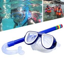 2019 neue Kind Tauchen Schnorcheln Maske Schwimmen Scuba Insgesamt Trockenen Schnorchel und Maske Glas Objektiv PVC 4 Farbe Kind Tauchen gläser