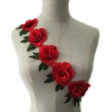 1 ярд 3D Красный цветок африканская кружевная ткань Скрапбукинг блестки Высокое качество блесток ткань для платьев NL213