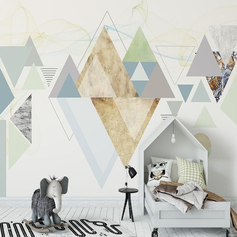 Modern Fashion Abstract Wallpaper Simple Geometric