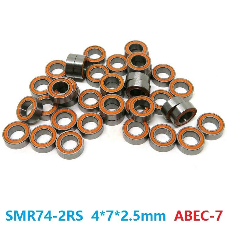 6pcs or 10pcs SMR74-2RS SMR74 RS 4x7x2.5 mm ABEC7 Stainless Steel hybrid Si3n4 ceramic bearing fishing reel bearings 4*7*2.56pcs or 10pcs SMR74-2RS SMR74 RS 4x7x2.5 mm ABEC7 Stainless Steel hybrid Si3n4 ceramic bearing fishing reel bearings 4*7*2.5