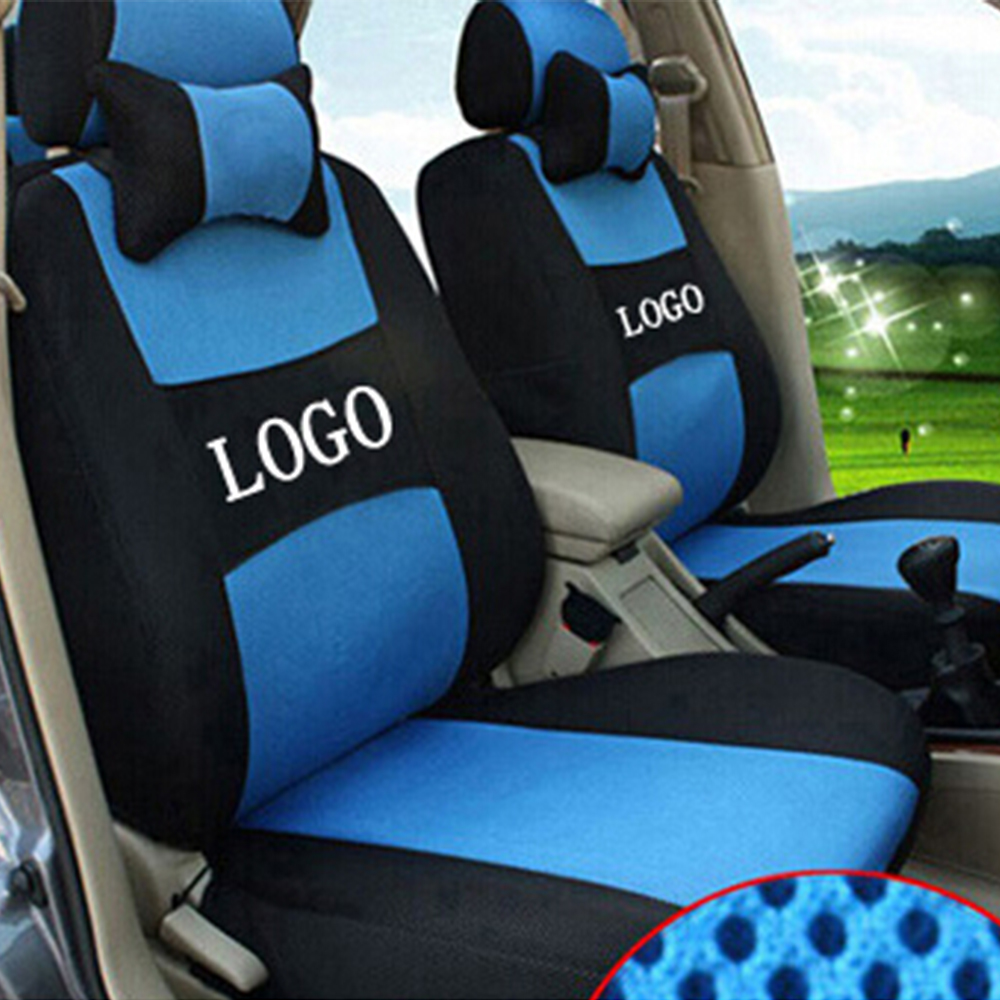 grey red beige Embroidery logo Car Seat Cover Front 2 Seat For Volkswagen polo golf Beetle fox Jetta CC with 2 Neck simulation mini golf course display toy set with golf club ball flag