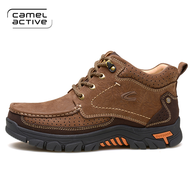Camel Active Man Skid Proof Sneakers Genuine Leather Waterproof Hiking  Camping Sport Shoes Chukka Outdoor Athletic
