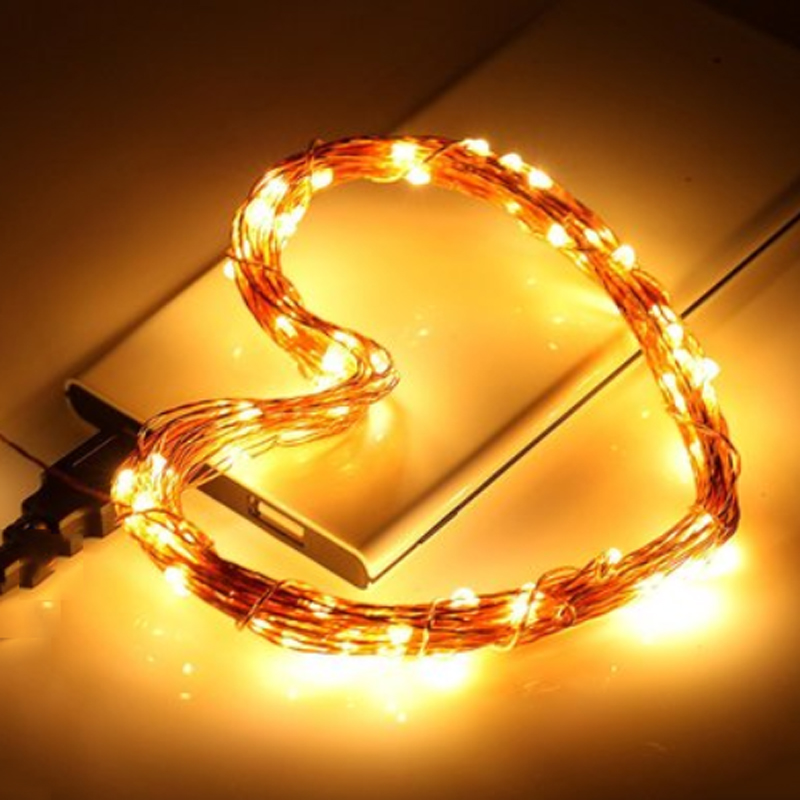 2M 5M 10M LED חג המולד אורות נחושת מחרוזת - תאורת חג