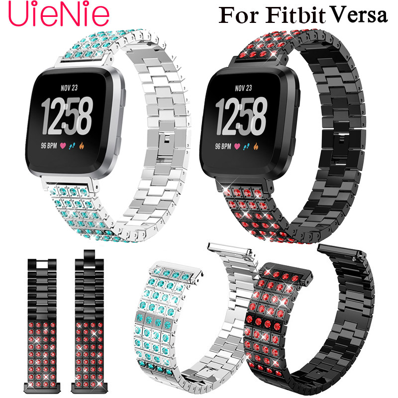 Frontier Metal wristband For Fitbit Versa smart watch band screwless Bracelet Replacement Wristband Accessories watchband