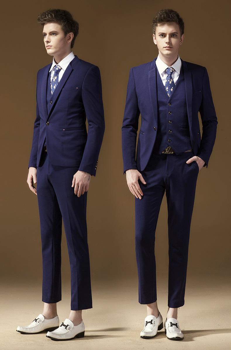Aliexpress.com : Buy Fashion Trend Royal Blue Tuxedo Slim Fit Men