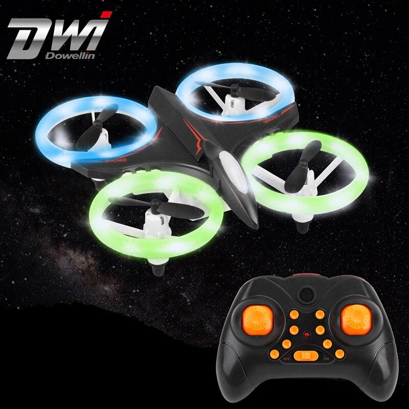 Luz Multicolor Mini RC Quadcopter Drone RC helicóptero de Control remoto de juguete de los niños de altitud giroscopio D6