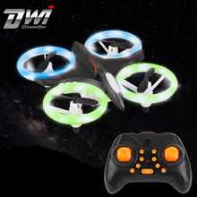 Multicolor Light Mini Drone RC Helicopter Quadcopter Dron Copter Remote Control Children Toy Altitude Hold Quadrocopter D6