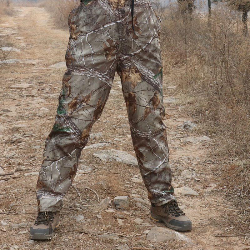 Thin Man Army Clothing Tactical Military Straight Trousers bionic camouflage pants Suitable for Hiking Fishing jungle hunting(China)