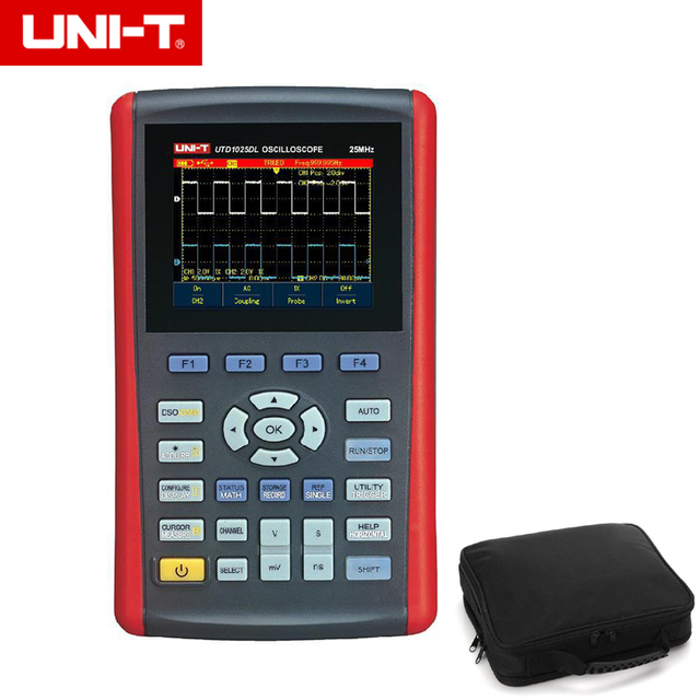 "Special Offers UNI-T 2 Channels UTD1025DL/25MHz  UTD1050DL/50MHz Handheld Digital Storage Oscilloscopes 250MSa 3.5""LCD Fully Auto Scale"