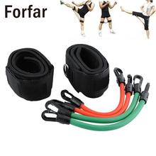 Fitness Ankle Straps Resistance Workout Leg Kick Strength Training Kinetic Tube Bands For Power Thai Punch Taekwondo Adjustable(China)