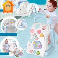 High Quality Baby Walker Toys Multifuctional Toddler Trolley Sit to Stand ABS Musical Walker With Adjustable Screw For Toddler