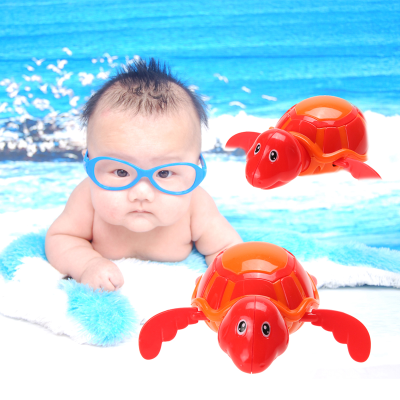 Bath Toys For Boys : Baby boys girls bathing bath toy swim turtle chain