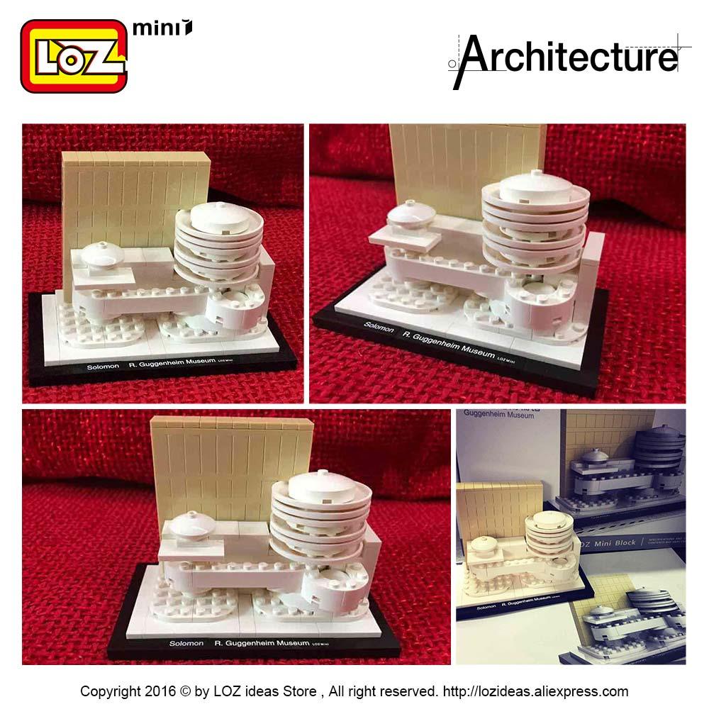 LOZ идеялары Mini Block Guggenheim мұражайы - Дизайнерлер мен құрылыс ойыншықтары - фото 6