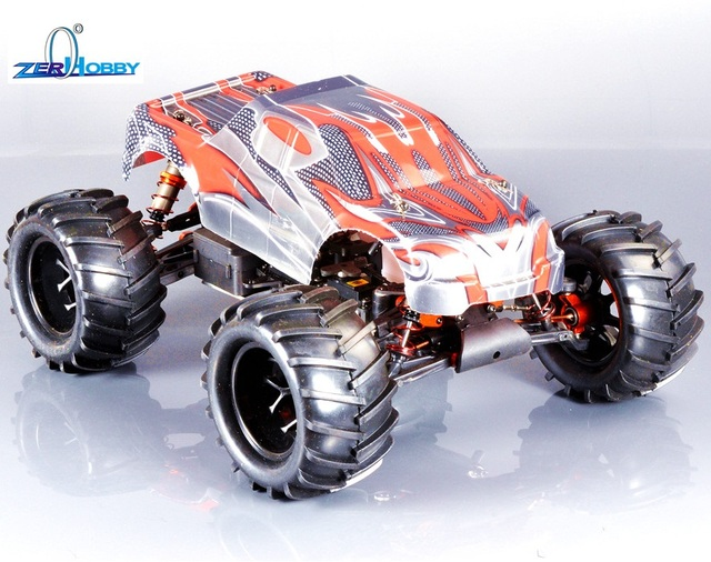 Tw Sh28Cxp Engine Hsp 1/8 Nitro Powered 4Wd Off Road Monster Truck