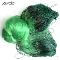 Lawaia Fishing Nets Sticky Net 2M 2 Finger To 80M Long Imported Green Silk Three layer Fishing Net Fish Pond Reservoir Wire Mesh