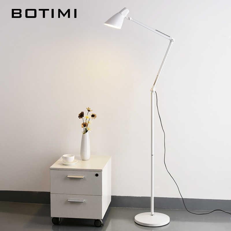 BOTIMI гостиная Напольная Лампа американская светодиодная Складная абажур для офисного чтения Luminaria de mesa энергосберегающее освещение