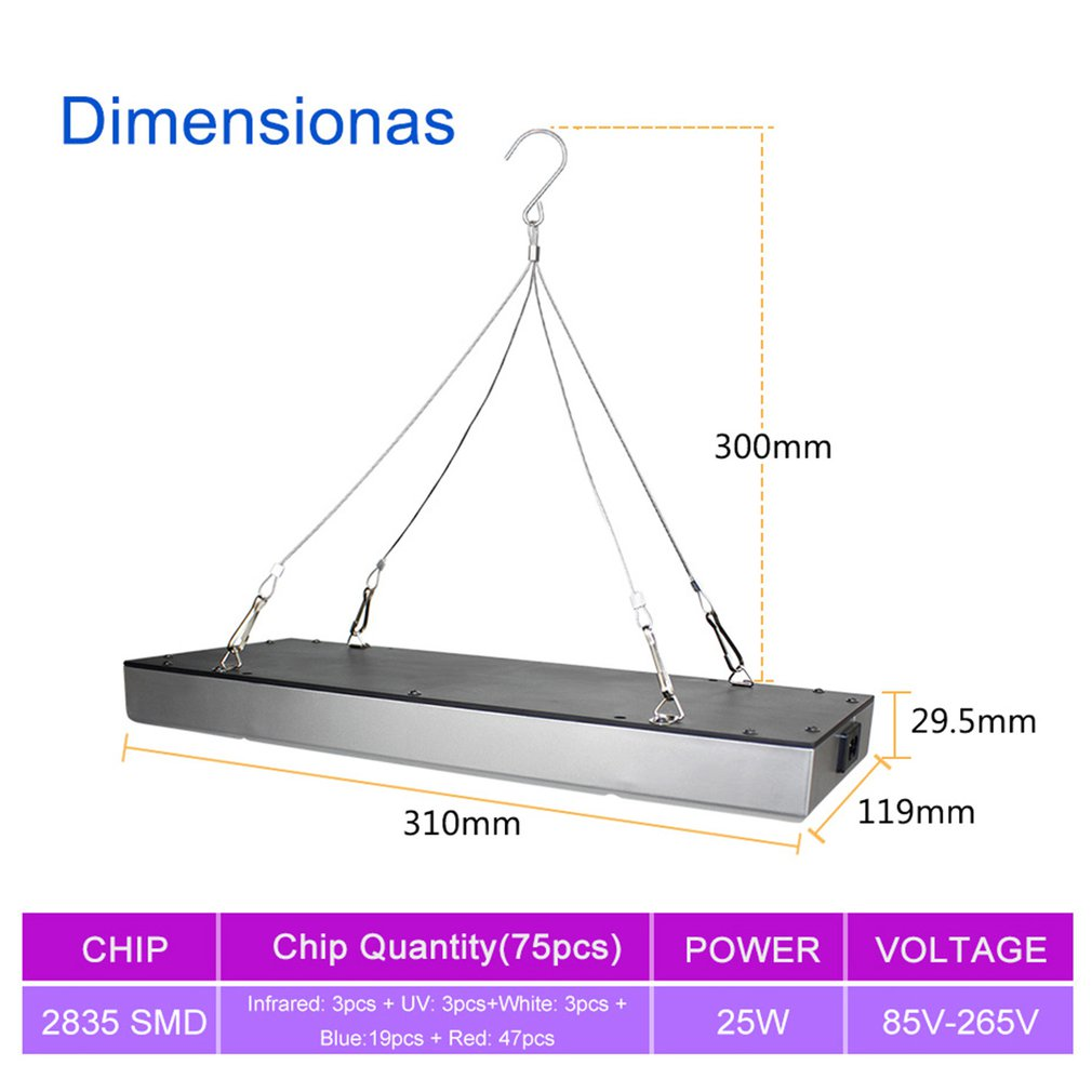 45 W 25 W Led Grow Light Panel Red Blue White Ir Uv Led Grow Light Full Spectrum For Indoor Planting Greenhouse Hydroponics