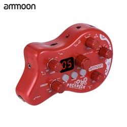 ammoon PockRock Portable Guitar Multi-effects Processor Effect Pedal 15 Effect Types 40 Drum Rhythms Tuning Function