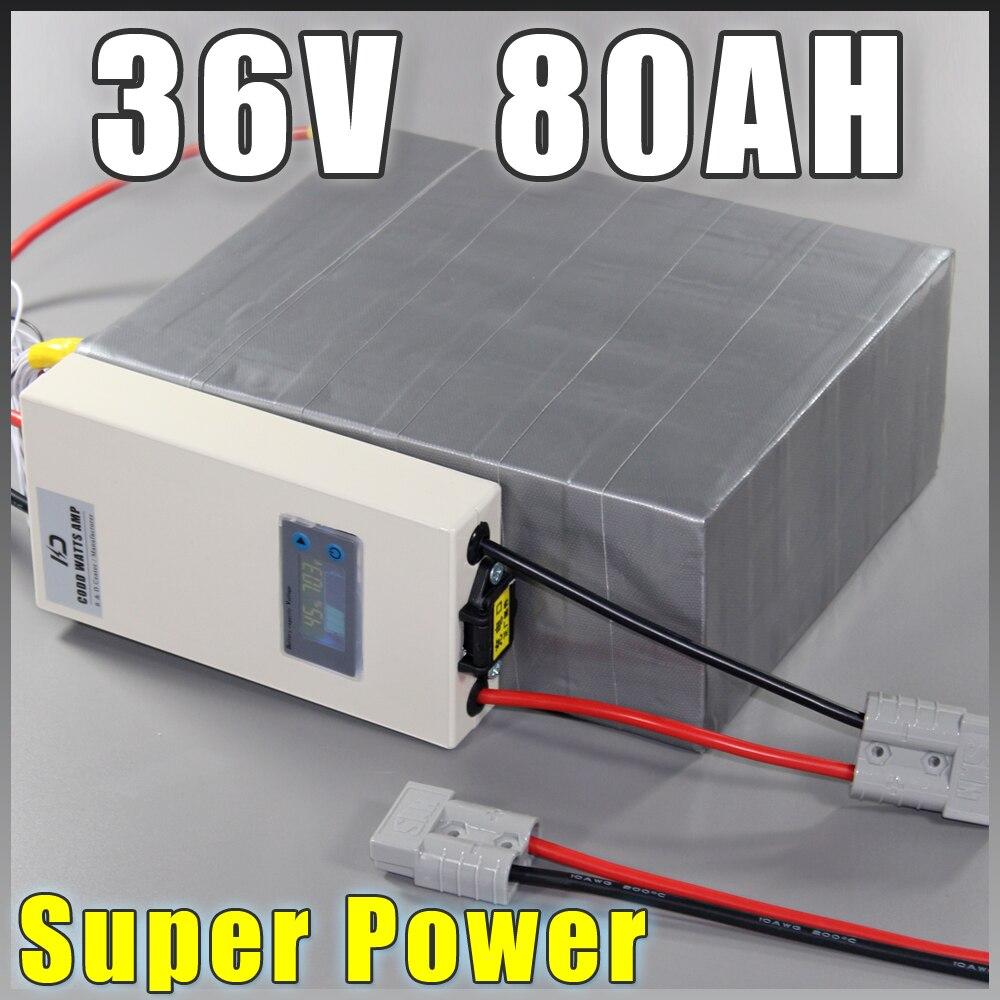 Batería de 36V 80Ah LiFePO4, batería de bicicleta eléctrica de - Ciclismo - foto 1