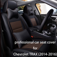 Legua сиденья комплект роскошные кожаные аксессуары для интерьера для Chevrolet TRAX (2014 2016) водонепроницаемый стайлинга автомобилей сиденье мягкий
