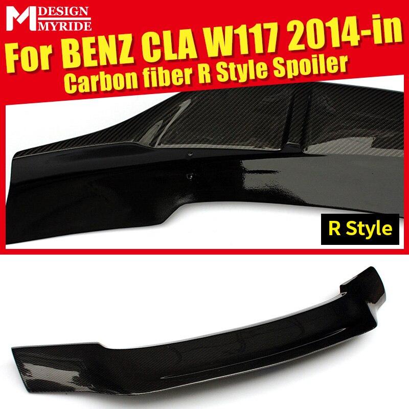 Becquet de coffre arrière en Fiber de carbone Style R accessoires de Style de voiture pour Mercedes Benz CLA-W117 CLA200 CLA250 CLA300 14-in