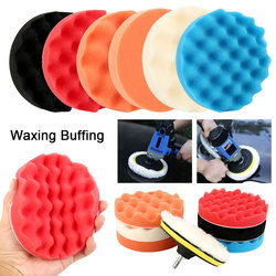 8pcs/Set 6/7Inch Car Polishing Pad Set Buffing Sponge Polish Auto Sponge Waxing Pads Drill Set Kit for Car Polisher Wheel Wax