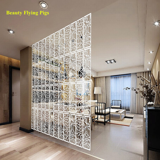 4pcs/pack Modern Pvc Brief Screen Shutter Door Photos Wall Partition  Fashion Combination Room Divider
