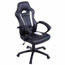 Goplus высокой спинкой гоночный автомобиль Стиль анатомические сиденья офисные стол и стул игровые кресла Новый hw51422