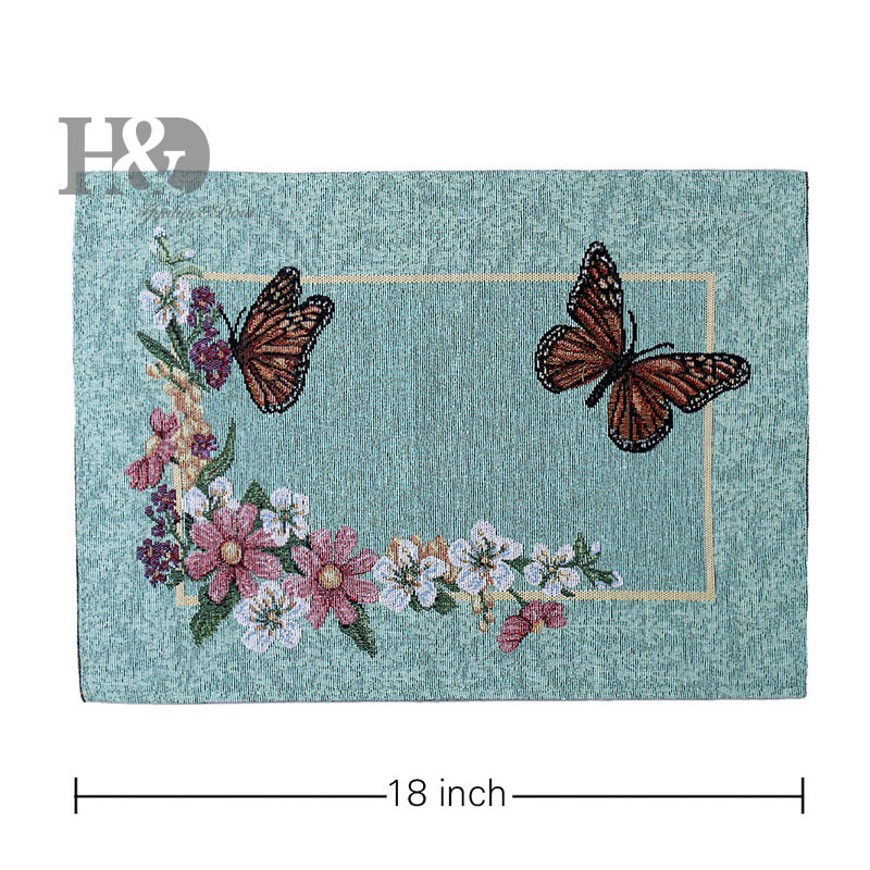 Vine Butterfly Country Tapestry Wedding Bed Heat Resistant Protection Dining Mat Slip-resistant Placematssofa Table Cloth Decor