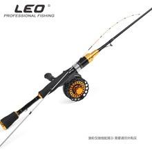 LEO полутитановая рыболовная удочка из сплава для слегка кальмарной рыбалки, 1 м, мягкая легкая удочка, плот, Рыболовная катушка для подледной рыбы, сиденье 6+ 1BB