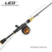LEO semi-titanium alloy fishing rod slightly squid 1m soft Raft ice fish reel seat 6+1BB