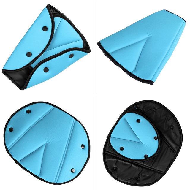 Children Baby Kids Triangle Belt Covers Children Car Safety Harness Adjuster Seat Belt Seatbelt Strap Cover Pad Black