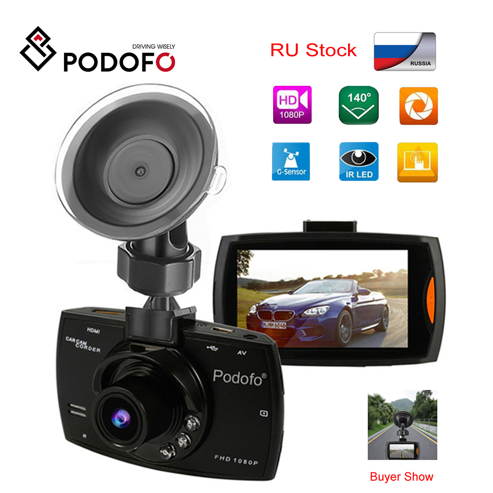 Podofo A2 Car DVR Camera G30 Full HD 1080P 140 Degree Dashcam Video Night Vision