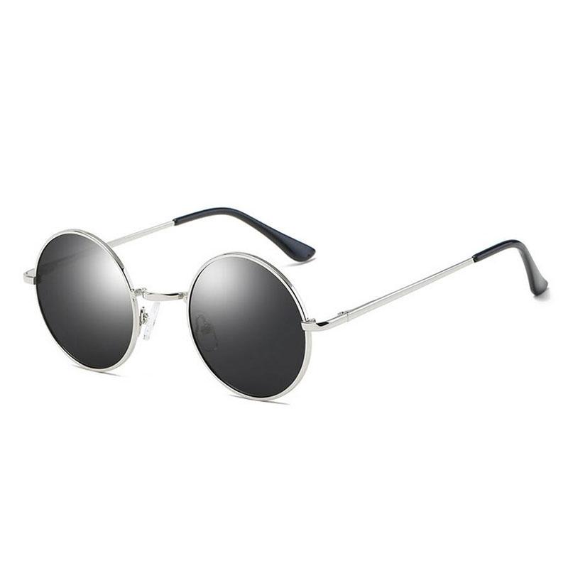 HTB1hc2tdcLJ8KJjy0Fnq6AFDpXaj - FREE SHIPPING Polarized sunglasses vintage sunglass round sunglasses Black Lens JKP412