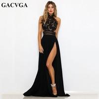 8846f3ad00 GACVGA Sexy Women Sleeveless Summer Dress Halter Neck Lace Crochet Evening  Maxi Long Dress Backless Party. GACVGA Sexy kobiety bez rękawów sukienka ...