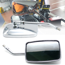 лучшая цена Motorcycle Rearview Mirrors ABS Plastic Retro Side Silver Mirror For Kawasaki Yamaha BMW Suzuki Ducati Benelli Honda KTM Yamaha