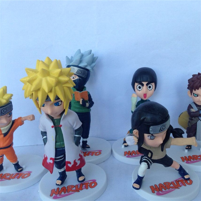 1pc/lot Naruto Action Figure Toys 6 Styles Naruto/Kakashi/Gaara/Lee/Neji/Minato PVC Toys Collections Figures Kids Toys 12cm free shipping 6 styles cute kids cheese cat action figures mini cat pvc toys figures model toy best decoration for children