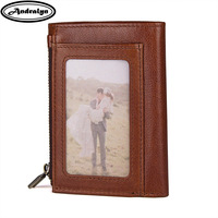 Andralyn RFID Wallet Antitheft Scanning Genuine Leather Wallet Leisure Men S Slim Leather Mini Wallet Case