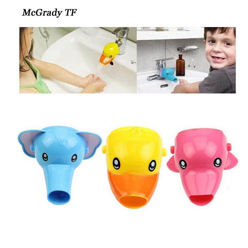Cartoon Faucet Extender For Kid Children Kid Hand Washing In Bathroom Sink Elephant Dolphin Duck Bathroom Sink Accessories