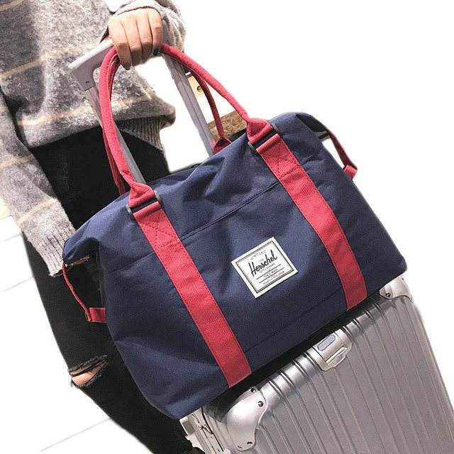 a108092ded82 US $15.41 31% OFF| Travel bag canvas duffle weekend bag portable travelling  bag large capacity baggage bag packing cubes travel luggage organizer-in ...
