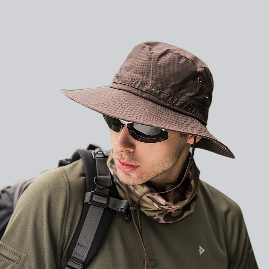 Men's Hats Cap Men Tactical Army Summer Fishing Hat Uv Protection Women Hiking Beach Bucket Hat Dad Outdoor Unisex Sunhat Foldable Wh610