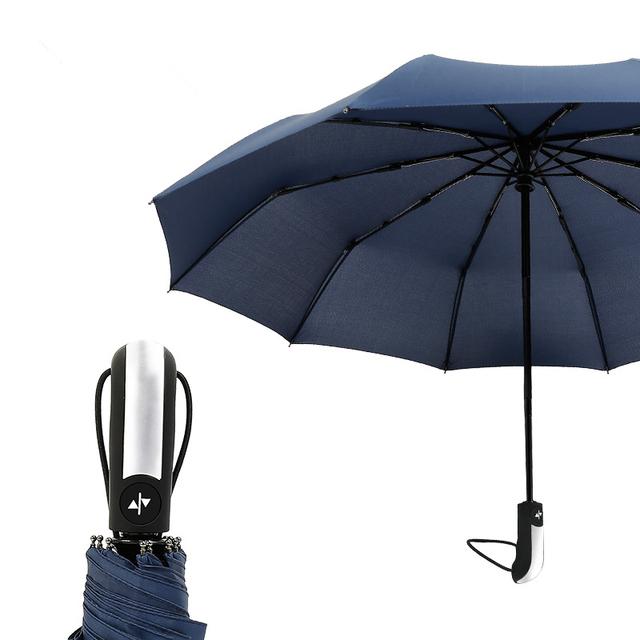 Wind Resistant Three Folding Automatic Umbrella Rain Women Auto Luxury Big Windproof Umbrellas Men Frame Windproof 10K Parasol