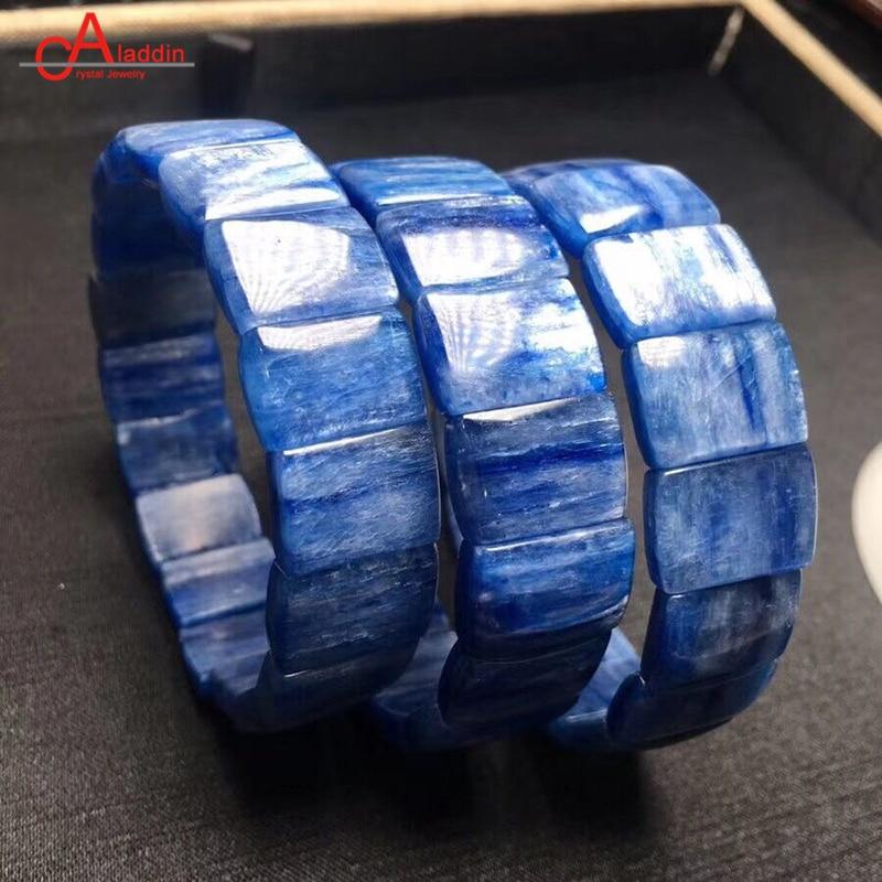 Bracelet en Kyanite naturelle Aladdin 5A + bracelets en cristal de Cyanite bleu bijoux de mode pour hommes et femmes cadeau classique de vacances précieux