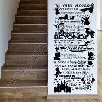 Мультфильм Лев Король Микки Минни в этом доме мы делаем цитаты правила стены искусства наклейки украшения для детской комнаты декор B619