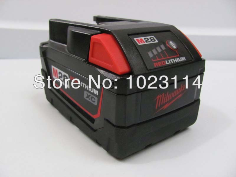 Used Milwaukee M28 Lithium Ion 28-Volt 28V Battery Pack наушники philips she1350 вкладыши черный проводные page 1
