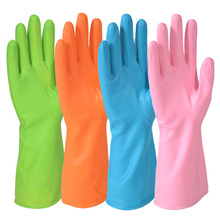 winter thermal protecting gloves  50CM lengthen PVC latex safety with thicken velvet linning and cotton